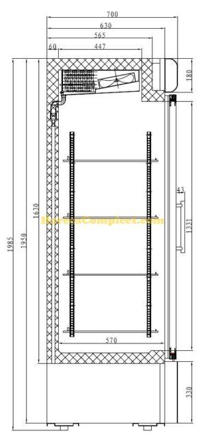 COMBISTEEL VRIESKAST 1 GLASDEUR (7450.0156)