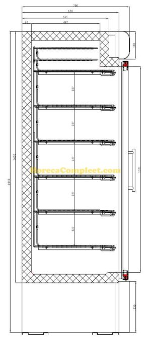 COMBISTEEL VRIESKAST 1 GLASDEUR (7450.0165)
