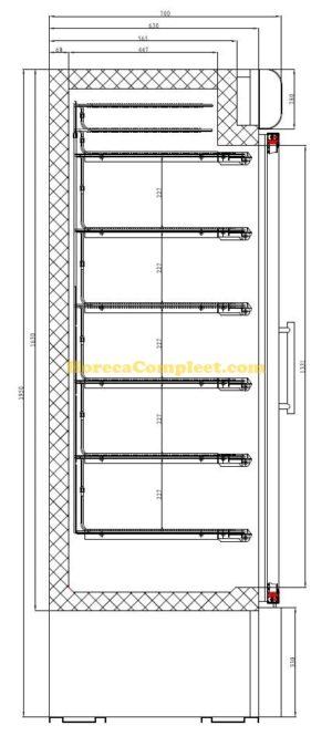 COMBISTEEL VRIESKAST 2 GLASDEUREN (7450.0167)