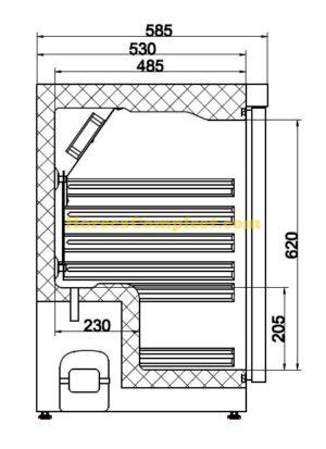 COMBISTEEL KOELKAST RVS 1 DEUR (7450.0550)