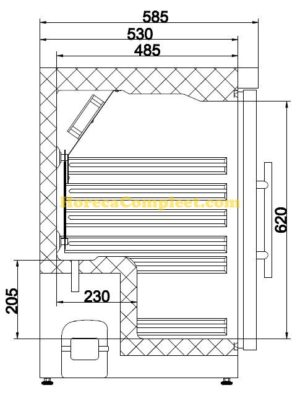 COMBISTEEL KOELKAST 1 GLASDEUR (7450.0552)