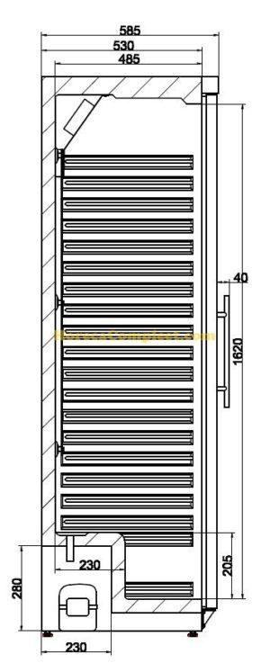 COMBISTEEL KOELKAST 1 GLASDEUR (7450.0557)