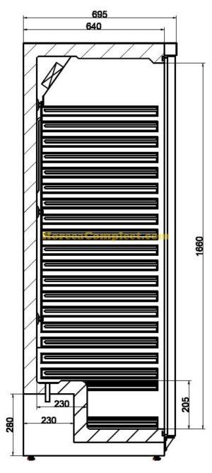 COMBISTEEL KOELKAST WIT 1 DEUR (7450.0561)