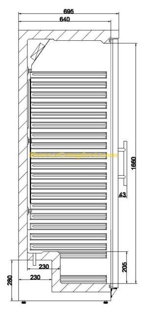 COMBISTEEL KOELKAST 1 GLASDEUR  (7450.0562)