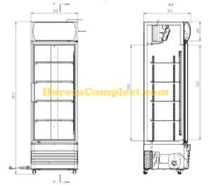 COMBISTEEL KOELKAST 1 GLASDEUR FCU-370  (7455.2100)