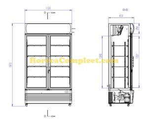 COMBISTEEL KOELKAST 2 GLASDEUREN FCU-750 (7455.2105)