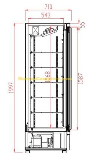 COMBISTEEL KOELKAST 4 GLASDEUREN JDE-2025R (7455.2210)