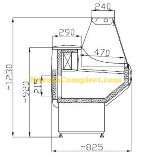 COMBISTEEL KOELVITRINE VINNIE 2.0 (7486.0010)