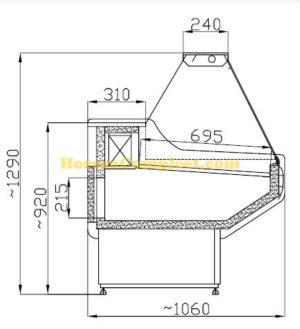 COMBISTEEL KOELVITRINE OWEN 2.0 (7486.0025)