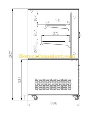 COMBISTEEL KOELVITRINE 470L (7487.0025)