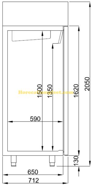 COMBISTEEL KOELKAST RVS 1200 LTR (7489.5045)