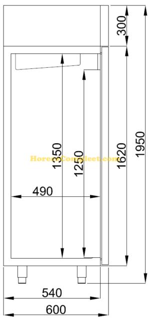 COMBISTEEL KOELKAST RVS 400 LTR STATISCH (7489.5070)
