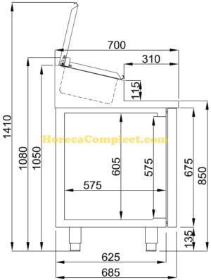 COMBISTEEL SALADETTE 2 DEUREN 7x 1/3GN PAN (7489.5140)