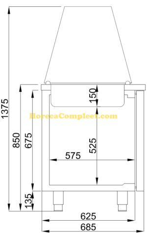 COMBISTEEL SALADETTE 2 DEUREN 3x 1/1 GN PAN (7489.5150)