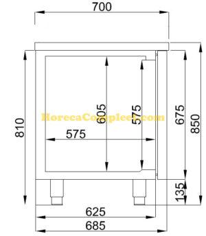 COMBISTEEL 700 KOELWERKBANK 3 DEUREN (7489.5165)