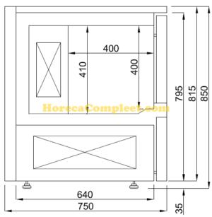 COMBISTEEL BLASTCHILLER 5x 1/1GN (7489.5205)