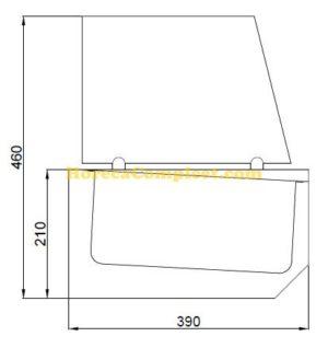 COMBISTEEL GEKOELDE OPZETVITRINE 6X 1/3 GN (7489.5240)