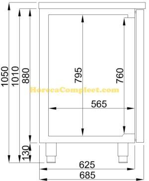 COMBISTEEL BIERKOELER 2 DEUREN 1L (7489.5315)