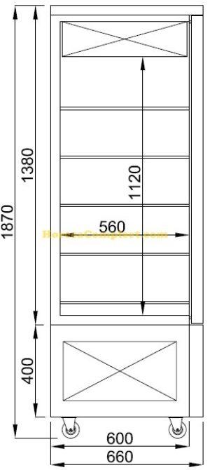 COMBISTEEL GEKOELDE GEBAKSVITRINE CHOCOLADE (7489.5395)