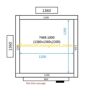 COMBISTEEL KOEL/VRIESCEL 1360x1360x2200 St-Line (7469.1000)