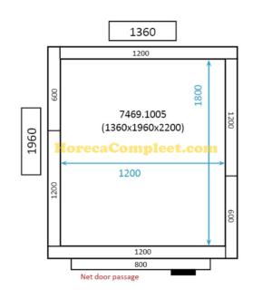 COMBISTEEL KOEL/VRIESCEL 1360x1960x2200 St-Line (7469.1005)