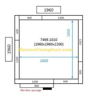 COMBISTEEL KOEL/VRIESCEL 1960x1960x2200 St-Line (7469.1010)