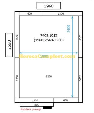 COMBISTEEL KOEL/VRIESCEL 1960x2560x2200 St-Line (7469.1015)
