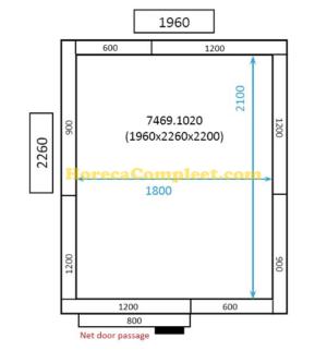 COMBISTEEL KOEL/VRIESCEL 1960x2260x2200 St-Line (7469.1020)