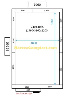 COMBISTEEL KOEL/VRIESCEL 1960x3160x2200 St-Line (7469.1025)