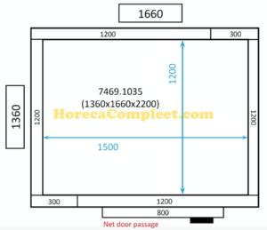 COMBISTEEL KOEL/VRIESCEL 1360x1660x2200 St-Line (7469.1035)