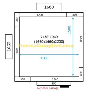 COMBISTEEL KOEL/VRIESCEL 1660x1660x2200 St-Line (7469.1040)