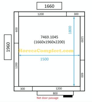 COMBISTEEL KOEL/VRIESCEL 1660x1960x2200 St-Line (7469.1045)