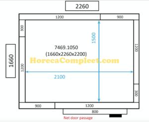 COMBISTEEL KOEL/VRIESCEL 1660x2260x2200 St-Line (7469.1050)