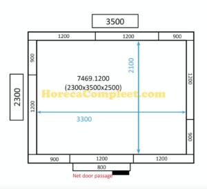 COMBISTEEL KOEL/VRIESCEL 2300x3500x2500 100MM St-Line (7469.1200)