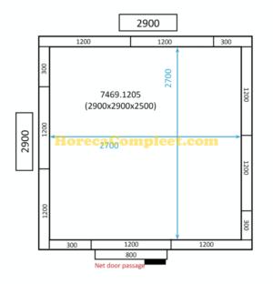 COMBISTEEL KOEL/VRIESCEL 2900x2900x2500 100MM St-Line (7469.1205)