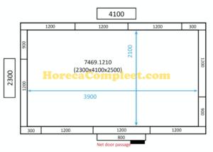 COMBISTEEL KOEL/VRIESCEL 2300x4100x2500 100MM St-Line (7469.1210)