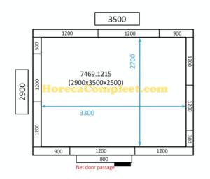 COMBISTEEL KOEL/VRIESCEL 2900x3500x2500 100MM St-Line (7469.1215)