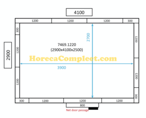 COMBISTEEL KOEL/VRIESCEL 2900x4100x2500 100MM St-Line (7469.1220)