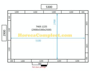 COMBISTEEL KOEL/VRIESCEL 2900x5300x2500 100MM St-Line (7469.1225)
