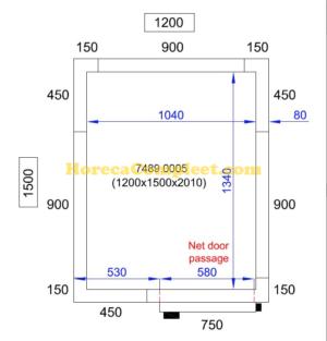 COMBISTEEL KOEL/VRIESCEL 1200X1500X2010 Pro Line (7489.0005)
