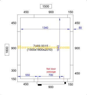 COMBISTEEL KOEL/VRIESCEL 1500X1800X2010 Pro Line (7489.0015)