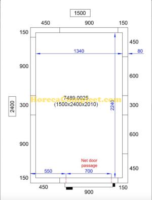 COMBISTEEL KOEL/VRIESCEL 1500X2400X2010 Pro Line (7489.0025)