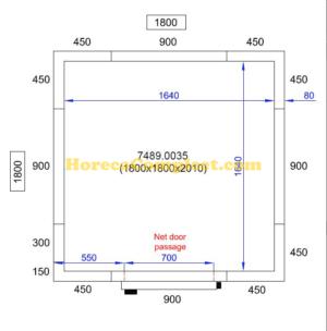 COMBISTEEL KOEL/VRIESCEL 1800X1800X2010 Pro Line (7489.0035)