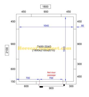 COMBISTEEL KOEL/VRIESCEL 1800X2100X2010 Pro Line (7489.0040)