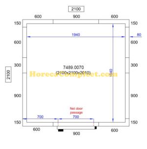 COMBISTEEL KOEL/VRIESCEL 2100X2100X2010 Pro Line (7489.0070)