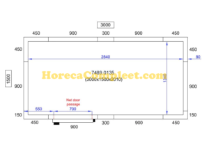 COMBISTEEL KOEL/VRIESCEL 3000X1500X2010 Pro Line (7489.0135)