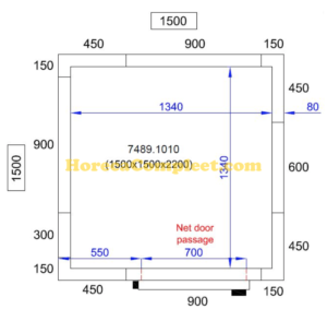 COMBISTEEL KOEL/VRIESCEL 1500X1500X2200 Pro Line (7489.1010)