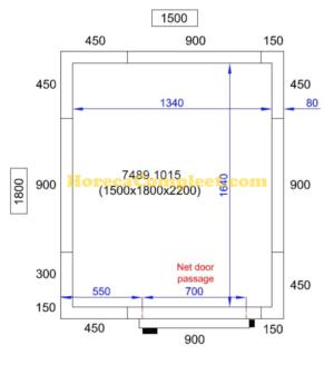 COMBISTEEL KOEL/VRIESCEL 1500X1800X2200 Pro Line (7489.1015)