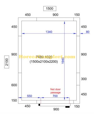 COMBISTEEL KOEL/VRIESCEL 1500X2100X2200 Pro Line (7489.1020)