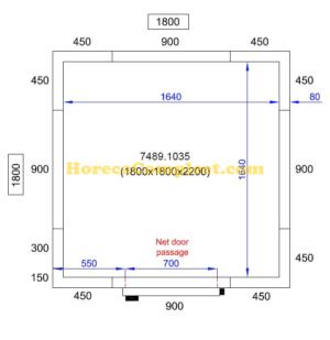 COMBISTEEL KOEL/VRIESCEL 1800X1800X2200 Pro Line (7489.1035)